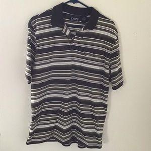 Olive Green/ Dark Gray Striped Polo